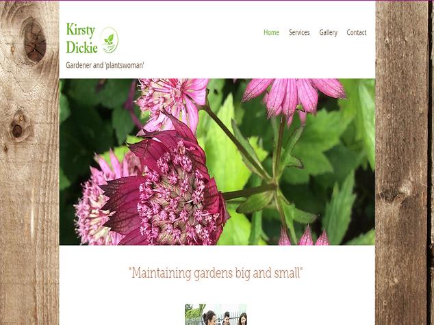 Kirstie Dickie Gardener and Plantswoman