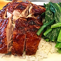 Roasted Duck on Rice with Green Vegetable 火鴨飯