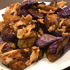 Chicken with Eggplant in Garlic Sauce 茄子雞