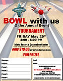 2020 Bowling Tournament Flyer and Regist