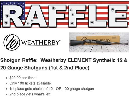 Raffle Ticket - Weatherby Synthetic Shotgun