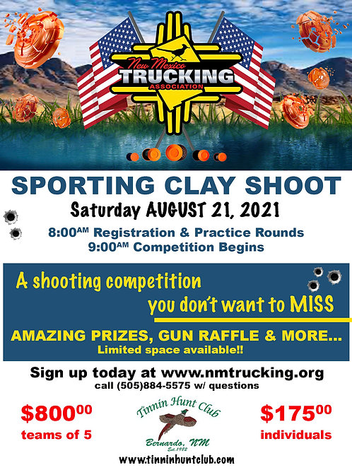 TEAM Entry - Sporting Clay Competition