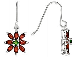 Christmas flower Sterling Silver Earring