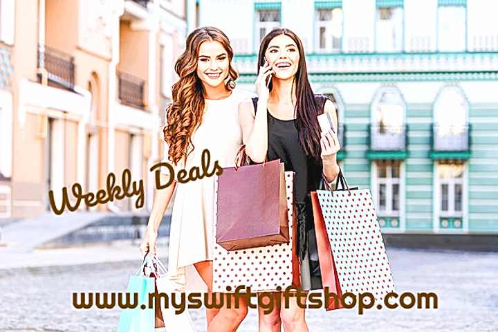 weekly deals two women shooping gift bag