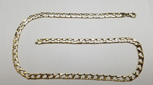 Men's 14K Solid Yellow Gold Necklace Chain!