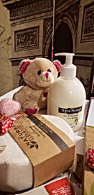 Spa Soap-Sponge-Bear-plush
