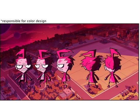 "Color Design of Character Turnaround for ""Invader Zim: Enter the Florpus"""