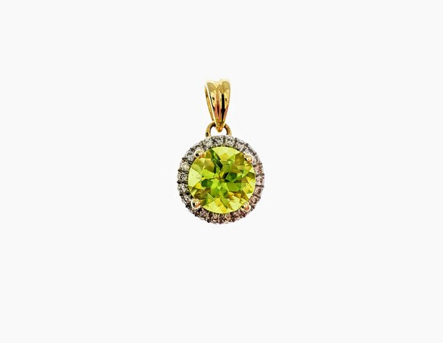 PPD06 - 14KY DIAMOND CUT PERIDOT