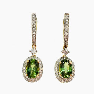 PED02 - 14KY OVAL GREEN SAPPHIRE