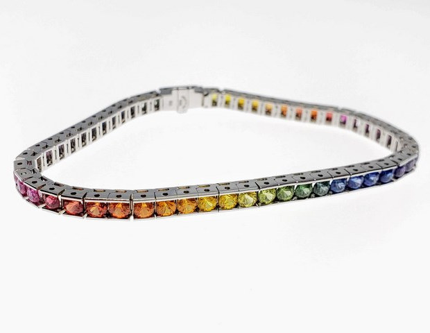 CB001L - 14KW DIAMOND CUT DOUBLE RAINBOW