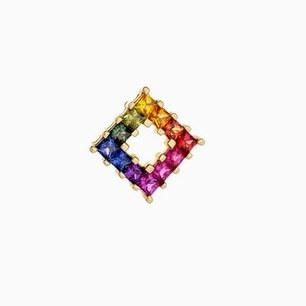 PP049 - 14KY PRINCESS CUT RAINBOW