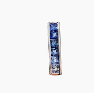 SP011 SILVER PRINCESS CUT BLUE SAPPHIRE