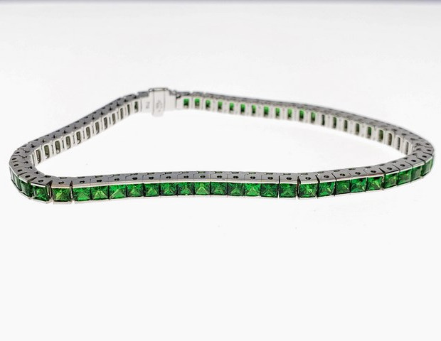 CB001L - 14KW PRINCESS CUT TSAVORITE