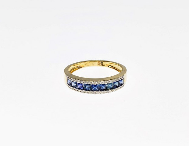 CRD01 - 14KY PRINCESS CUT BLUE