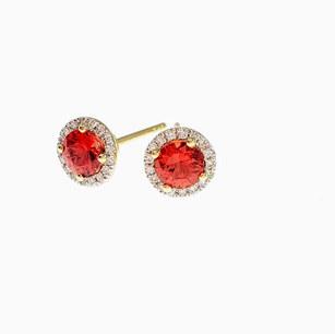 PED01 - 14KY DIAMOND CUT RED SAPPHIRE