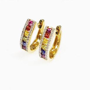 CED02 - 14KY DIAMOND CUT RAINBOW SAPPHIRE