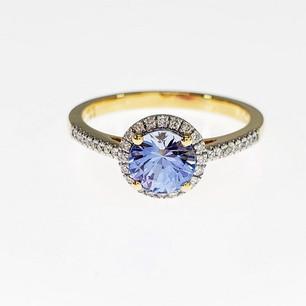 PRD02 - 14KY DIAMOND CUT BLUE SAPPHIRE