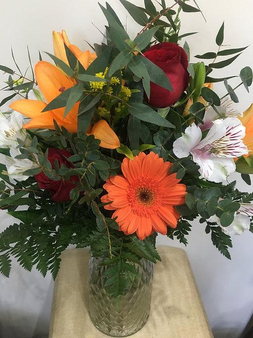 Ramo Lilium, rosas y flor variada