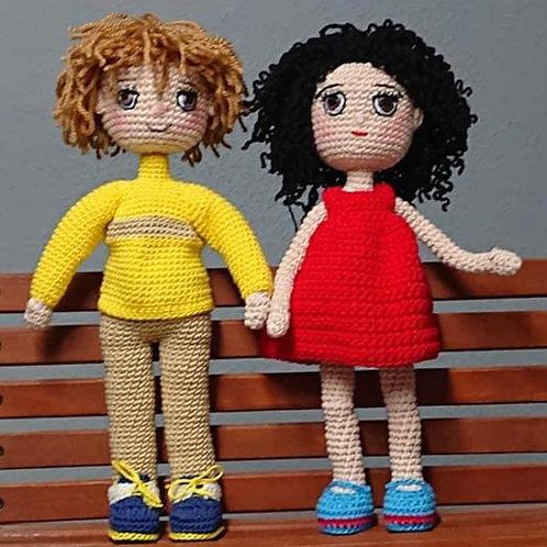 Muñecos de punto hechos a mano
