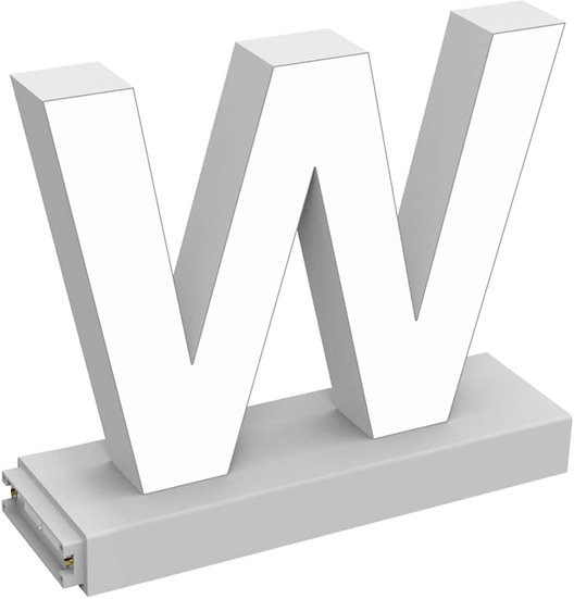 "MAGLED ""W"" TABLE-TOP LED Signage with Adjustable 6500K CCT 6500K Brightness"