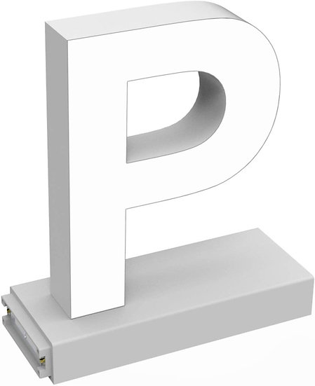 "MAGLED ""P"" TABLE-TOP LED Signage with Adjustable 6500K CCT 6500K Brightness"