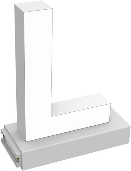 """MAGLED """"L"""" TABLE-TOP LED Signage with Adjustable 6500K CCT 6500K Brightness"""