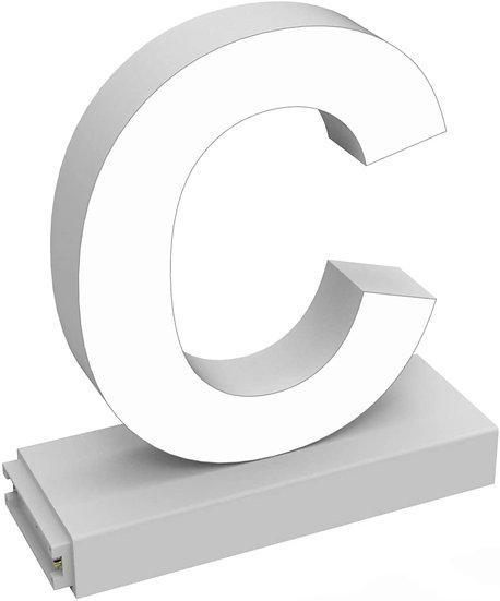 "MAGLED ""C"" TABLE-TOP LED Signage with Adjustable 6500K CCT 6500K Brightness"