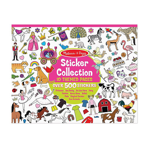 Melissa & Doug Sticker Collection Book: Princesses, Tea Party, Animals, and More