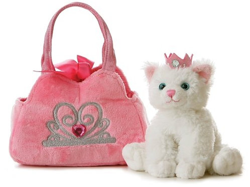 Aurora World Fancy Pals Plush Princess Kitten Purse Pet Carrier