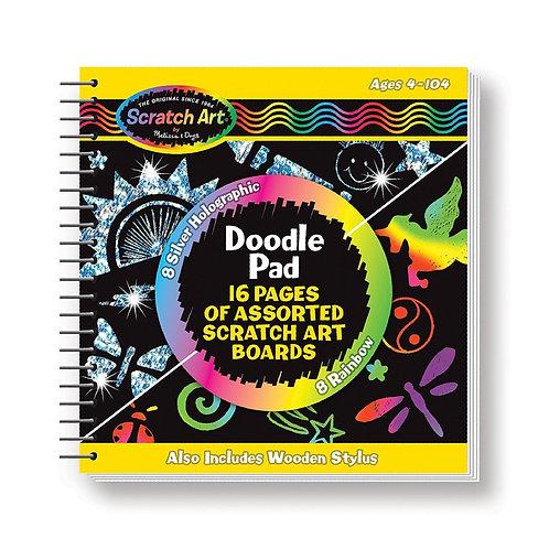 Scratch Art Doodle Pad Book, Arts & Craft