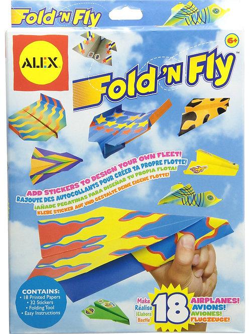 "Fold ""N"" Fly Airplane Kit"