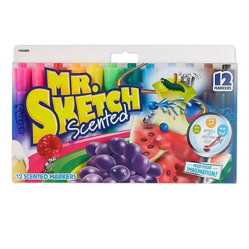 Mr. Sketch Assorted Scent Markers, 12 pack