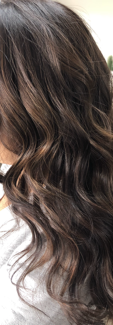 Rich Brunette With Subtle Balayage Hair