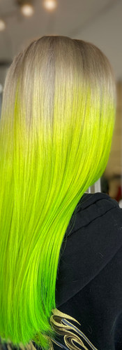 Electric Green Hair, Color Trend