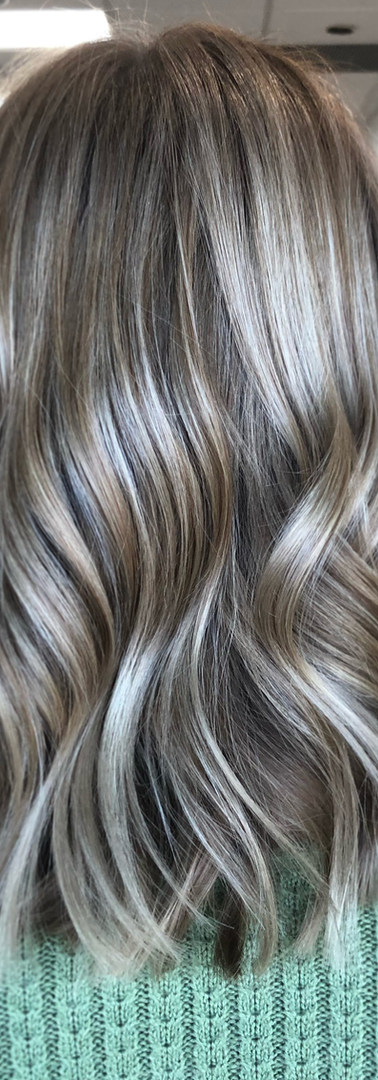 Ash Blonde Dimensional Hair Color create