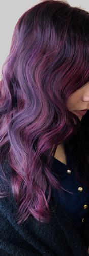 Purple Balayage created by Winnipeg Styl