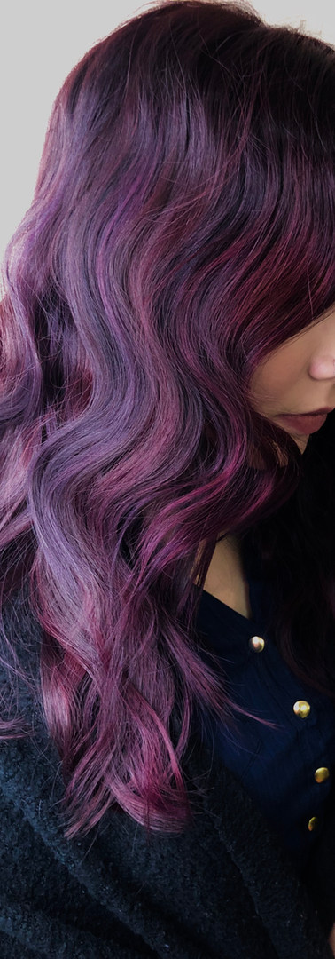 Purple Balayage created by Winnipeg Styl