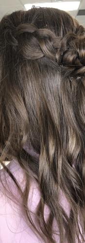 Half Up Grad Hair Style created by Winni