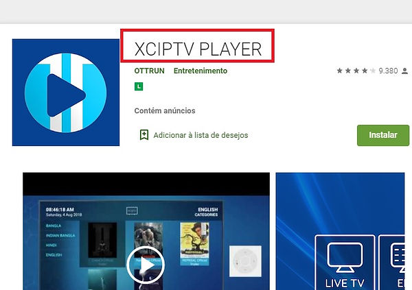 xciptv player Playstore