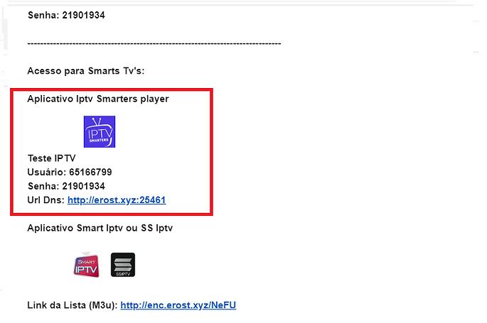 email recibido smarters player ErosTV.pn