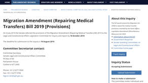 Template Letter #2:  Don't repeal Refugee MedEvac Law