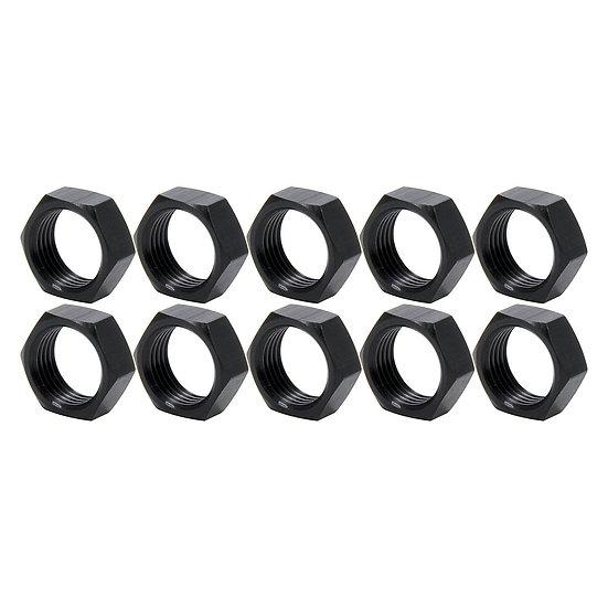 """Black Aluminium Jam Nuts 5/8"""""""