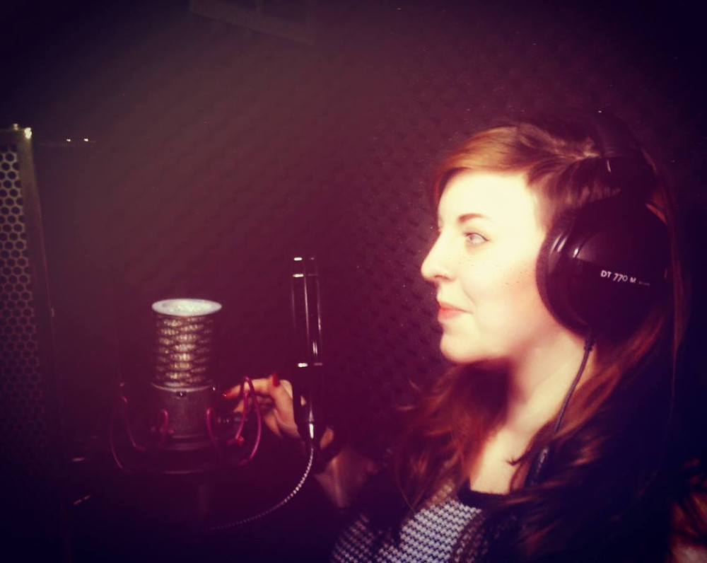 Me at Guy Michael's voice over booth in Jan