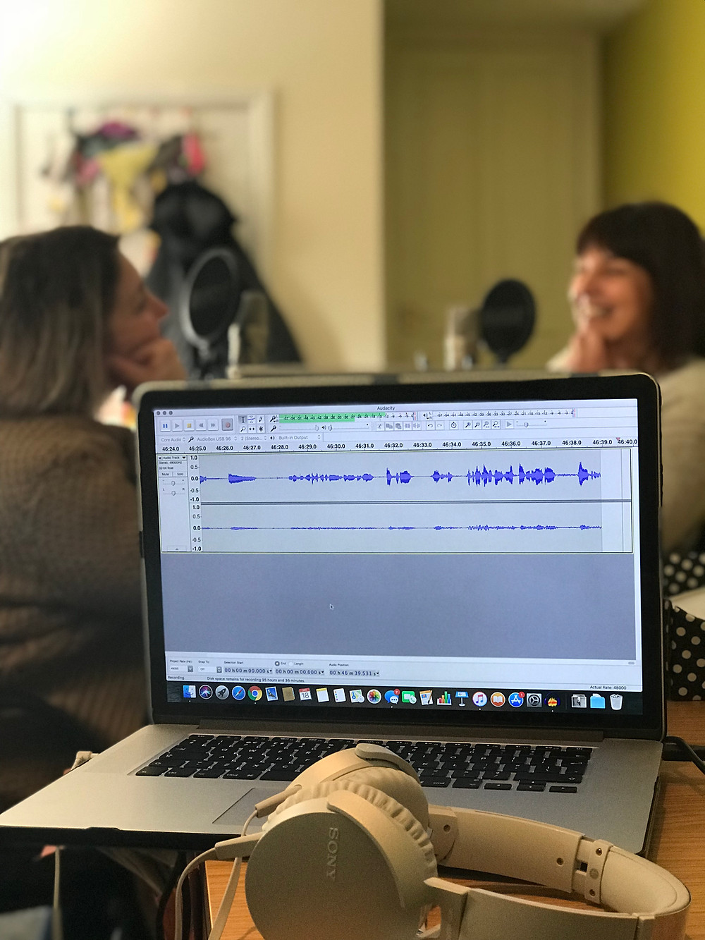 Recording the 'Discover Brightlife' podcast series in Cheshire