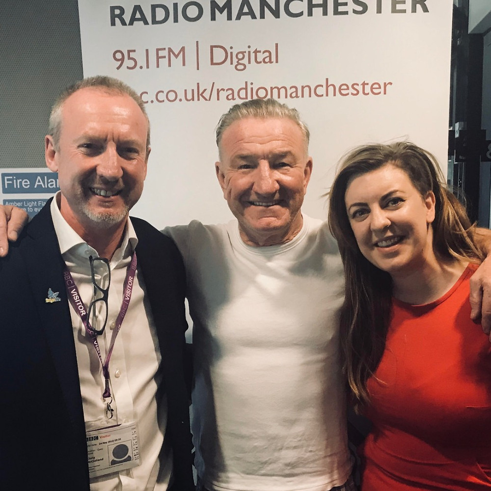 BBC's Mike Sweeney, Brightlife Cheshire's Chris McLelland and I after talking about our loneliness podcast