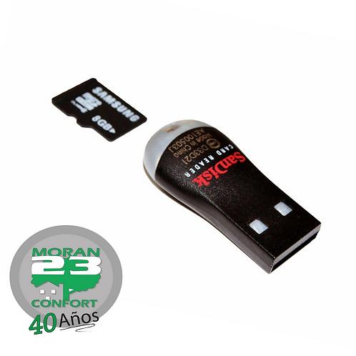 ADAPTADOR SANDISK LECTOR DE MEMORIAS SD A USB
