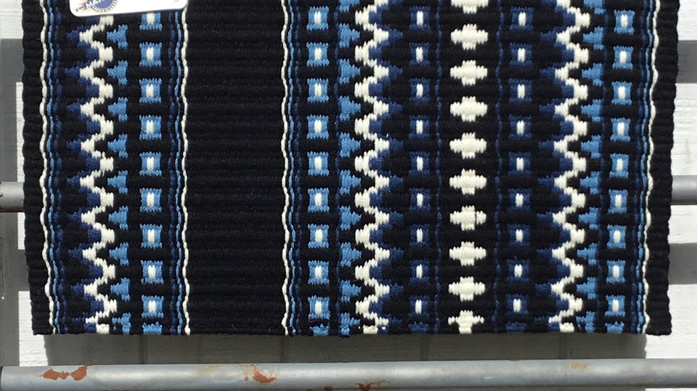 Slate Blue and Periwinkle Show Blanket