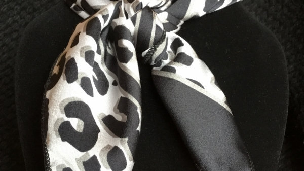 Animal Print and Stripes Show Scarf