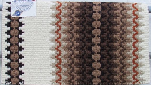 Corona 1450-4 Cream Chocolate Tan Rust Show Saddle Blanket Pad Mayatex