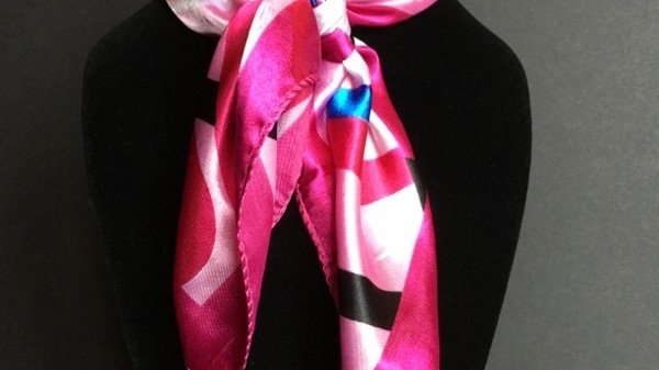 Fuchsia and Royal Blue Show Scarf